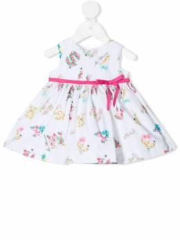 Miss Blumarine вечернее платье с цветочным принтом MBL3486