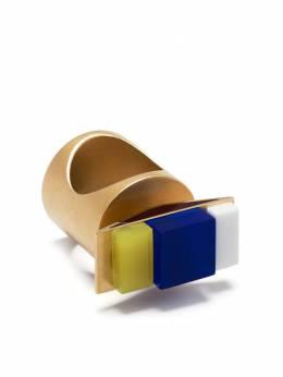 Maison Margiela кольцо в стиле колор-блок SM4UQ0012S12916