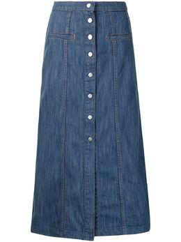 Manning Cartell джинсовая юбка с завышенной талией 40563BLUD