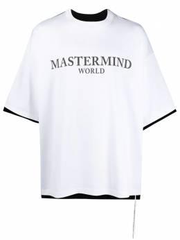 Mastermind World футболка оверсайз с контрастной вставкой MW21S06TS025017