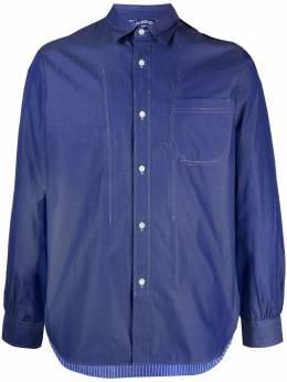 Junya Watanabe Man рубашка со вставками WGB015S21