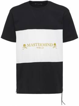 Хлопковая Футболка Mastermind World 73IJSL007-QkxBQ0sgWCBXSElURQ2