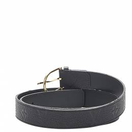 Louis Vuitton Black Monogram Empreinte Leather Belt 403854
