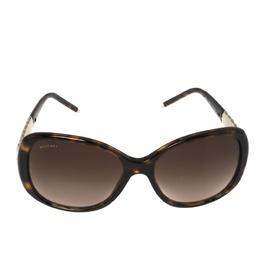 Bvlgari Dark Havana/ Brown Gradient BV 8114 Serpenti Square Sunglasses 407967