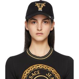 Versace Jeans Couture Black Baroque Bull Cap EE8HWAK17E80160