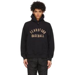 Fear Of God Black Baseball Hoodie FG50-046FLC