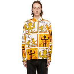 Etudes White Keith Haring Foundation Edition Illusion Shirt E18M-310-KH