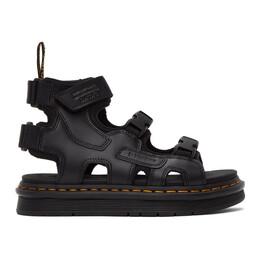 Dr. Martens Black Suicoke Edition Leather Strap BOAK Sandals DM BOAK