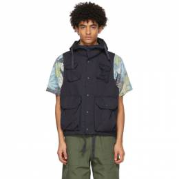 Engineered Garments Navy Twill Field Vest 21S1C004