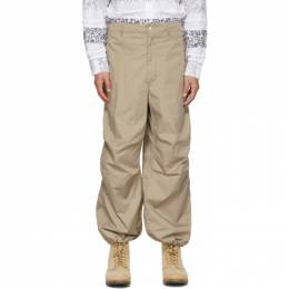 Engineered Garments Beige Twill Over Trousers 21S1F022