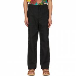 Engineered Garments Black Canvas Fatigue Trousers 21S1F004