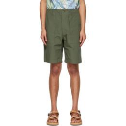 Engineered Garments Khaki Ripstop Fatigue Shorts 21S1E003