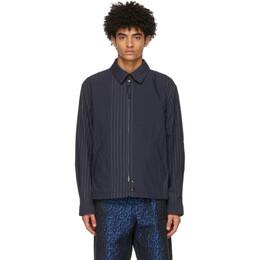Engineered Garments Navy Stripe Claigton Jacket 21S1D026