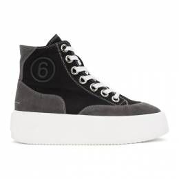Mm6 Maison Margiela Black Platform High Sneakers S59WS0153 P3978