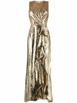 Elisabetta Franchi платье с оборками и пайетками AB00911E2