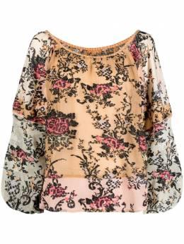Mes Demoiselles жаккардовая блузка с цветочным узором 21SMMDKW00052