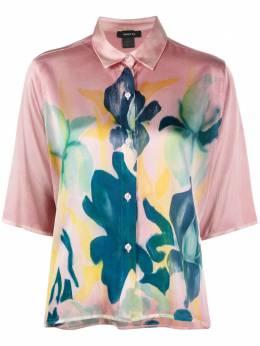 Avant Toi рубашка с короткими рукавами и цветочным принтом 221D1958SSTVL