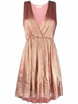 Mes Demoiselles драпированное платье Beyond с эффектом металлик 21SBEYOND