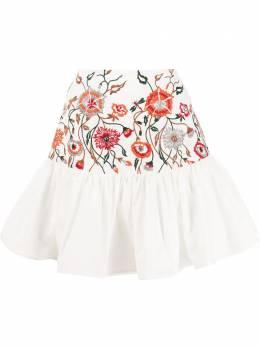 Silvia Tcherassi юбка Buccan с цветочной вышивкой BUCCANSKIRT