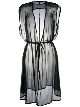 Ann Demeulemeester платье-трапеция с прозрачной вставкой 21012210108099