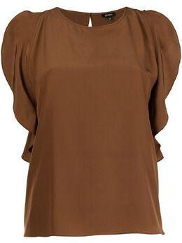 Aspesi блузка с разрезами на рукавах 56070753