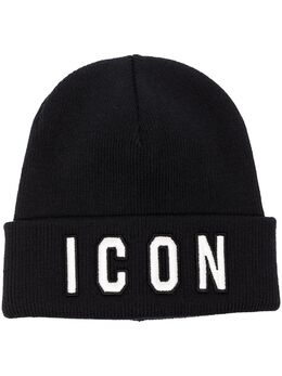 Dsquared2 шапка бини с вышивкой Icon KNM000113620001