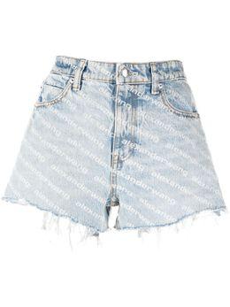 Alexander Wang джинсовые шорты с логотипом 4DC2214781