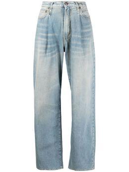 R13 брюки Damon широкого кроя со складками R13W3147897A