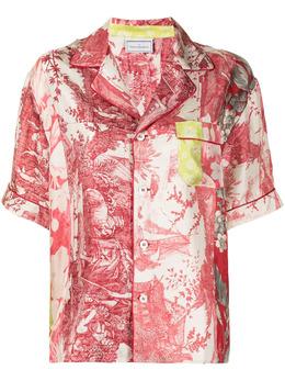 Pierre-louis Mascia рубашка с короткими рукавами и вышивкой ALOESCMC10497119454
