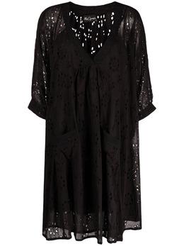 Mes Demoiselles расклешенное платье с английской вышивкой 21SBEAUREVOIRSHORT