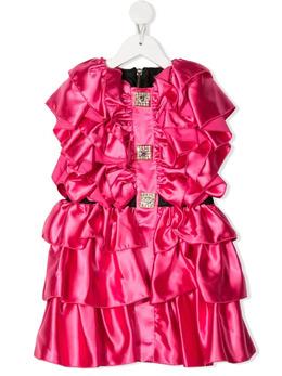 Balmain Kids платье с оборками 6O1311OD940