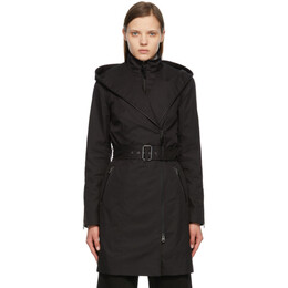 Mackage Black Adela Trench Coat ADELA