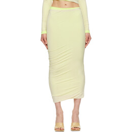 Sportmax Off-White and Yellow Edison Skirt 27710211600 MM13137