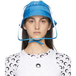 Marine Serre Blue Protective Visor Bucket Hat A058SS21X