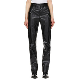 Sportmax Black Bella Coated Trousers 21310218600 MM10539