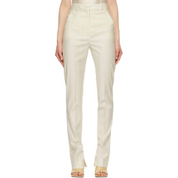 Sportmax Off-White Striped Lince Trousers 21310718600 MM10540