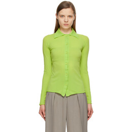 Sportmax Green Fitted Elea Shirt 23410118600 MM12117