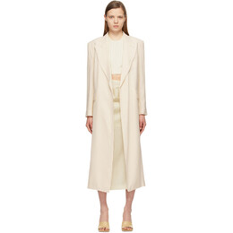 Sportmax Beige Oversized Corvino Coat 21210118600 MM10519