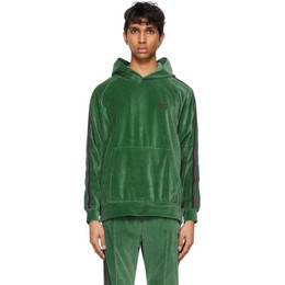 Needles Green Velour Track Hoodie IN186
