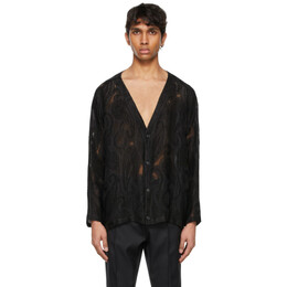 Needles Black Paisley Jacquard Cardigan IN106