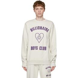 Billionaire Boys Club Grey Heart Logo Sweatshirt B21139