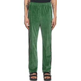 Needles Green Velour Narrow Track Lounge Pants IN187