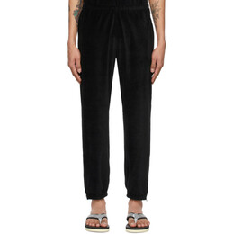 Needles Black Velour Zipped Lounge Pants IN203