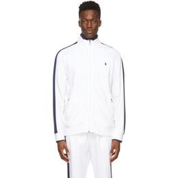 Polo Ralph Lauren White Cotton Interlock Track Jacket 710743326003