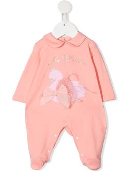Miss Blumarine комбинезон для новорожденного с вышивкой MBL3381