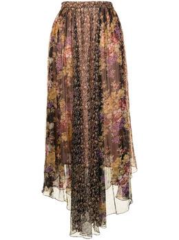 Mes Demoiselles плиссированная юбка с цветочным принтом GUIMAUVESKIRT