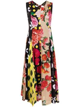 Molly Goddard платье в технике пэчворк с цветочным принтом MGSS2146