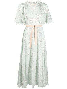 Mes Demoiselles платье макси с принтом пейсли 21SSARA
