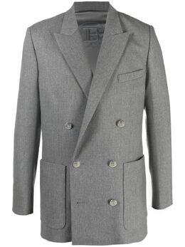 Balmain двубортный пиджак VH0SI000W118