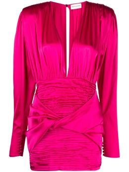 Magda Butrym платье мини с глубоким вырезом 266521
